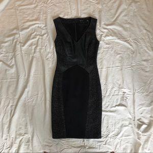 Karen Millen leather accent dress